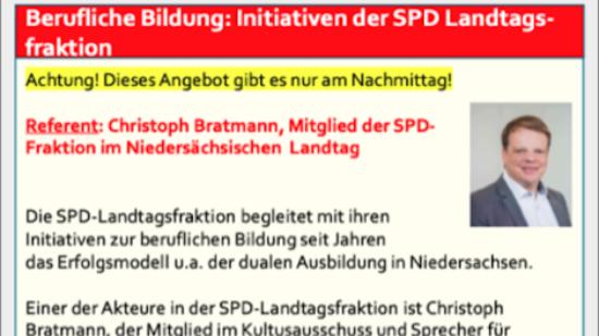 Berufliche Bildung: Initiativen der SPD Landtagsfraktion