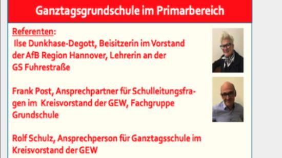 Bildungskongress der AfB am 26.06.2021: Ganztagsgrundschule im Primarbereich