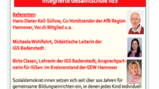 Bildungskongress der AfB am 26.06.2021:  IGS